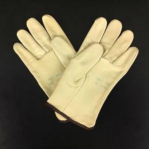 Vintage Accessories - Vintage 100% Leather Women's Work Garden Gloves